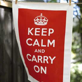 keep calm tea towel