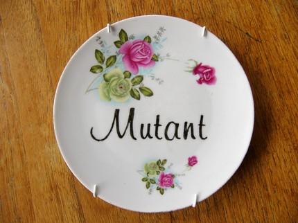 mutant china plate