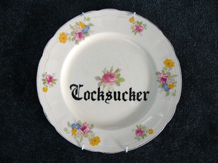 rude china plate