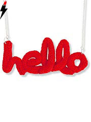 knitted name necklace