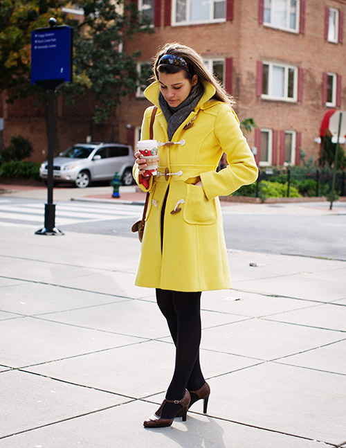 yellow toggle coat unabashedly pred Friday... I've got yellow coat envy